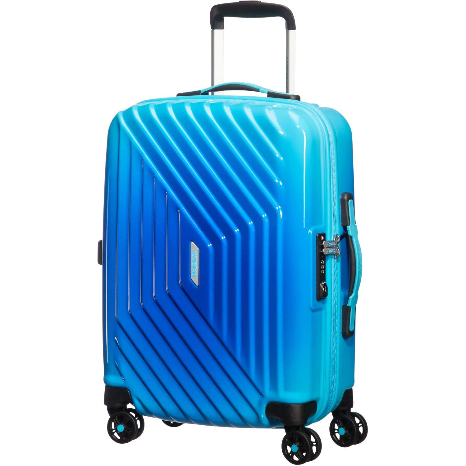 American Tourister Air Force 1 4 Roues 55/20 TSA Grad Bagage Cabine, 55 cm, 34 L, Gradient Blue