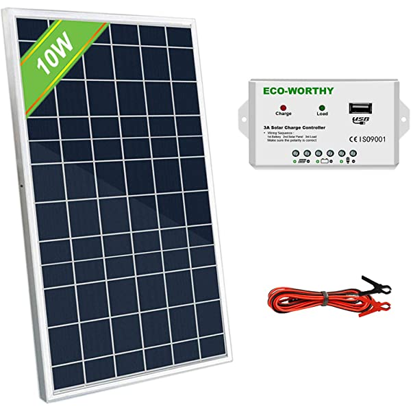 Eco Worthy 10w Solar Panel 10 Watt 12 Volt Pv Solar Module Solar Cell Panel Amazon Com Au Sports Fitness Outdoors