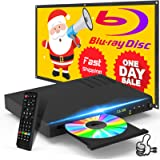 New Blu-Ray DVD Player, Home Theater HD Disc Player with HDMI AV Cables, CD DVD Player Built-in PAL NTSC System with HDMI AV