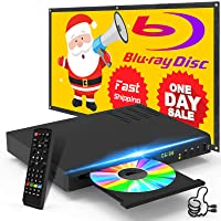 New Blu-Ray DVD Player for TV, HD Disc Player with HDMI AV Cables, Home Theater CD DVD Player Built-in PAL NTSC System with HDMI AV Coaxial USB Input, Multi-Region Support, Include Remote