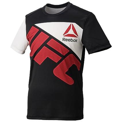 Reebok UFC - Camiseta de Entrenamiento para Hombre, BGV35, Negro, Large