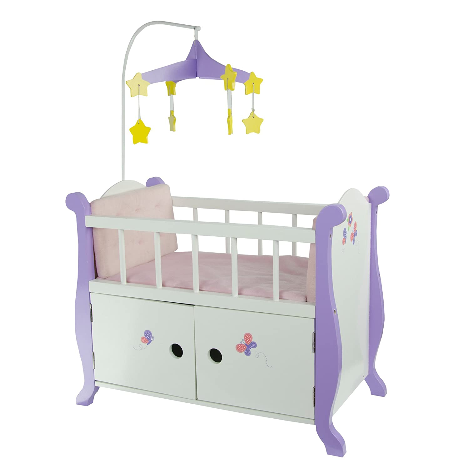 Superbe Amazon.com: Oliviau0027s Little World   Princess Baby Doll Furniture   Nursery  Crib Bed With Storage Cabinet (White) | Wooden 18 Inch Doll Furniture: Toys  U0026 ...