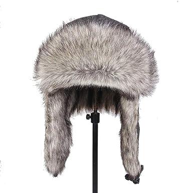 6e39982b2cd Russian Bomber Hat Men Women s Winter hat Fur Cap Balaclava mask Ear  Protection Neck Warm caps Snow at Amazon Men s Clothing store