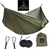Teepee Outdoors – Extra Wide (Double 300x200 cm) Comfortable Camping Hammock with Straps - Lightweight and Portable - for Hiking Backpacking Travel Outdoor Indoor Beach Baby Kids Garden Yard