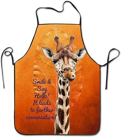 Larissahi Nouveau Tablier Girafe Sourire Dire Bonjour Toile