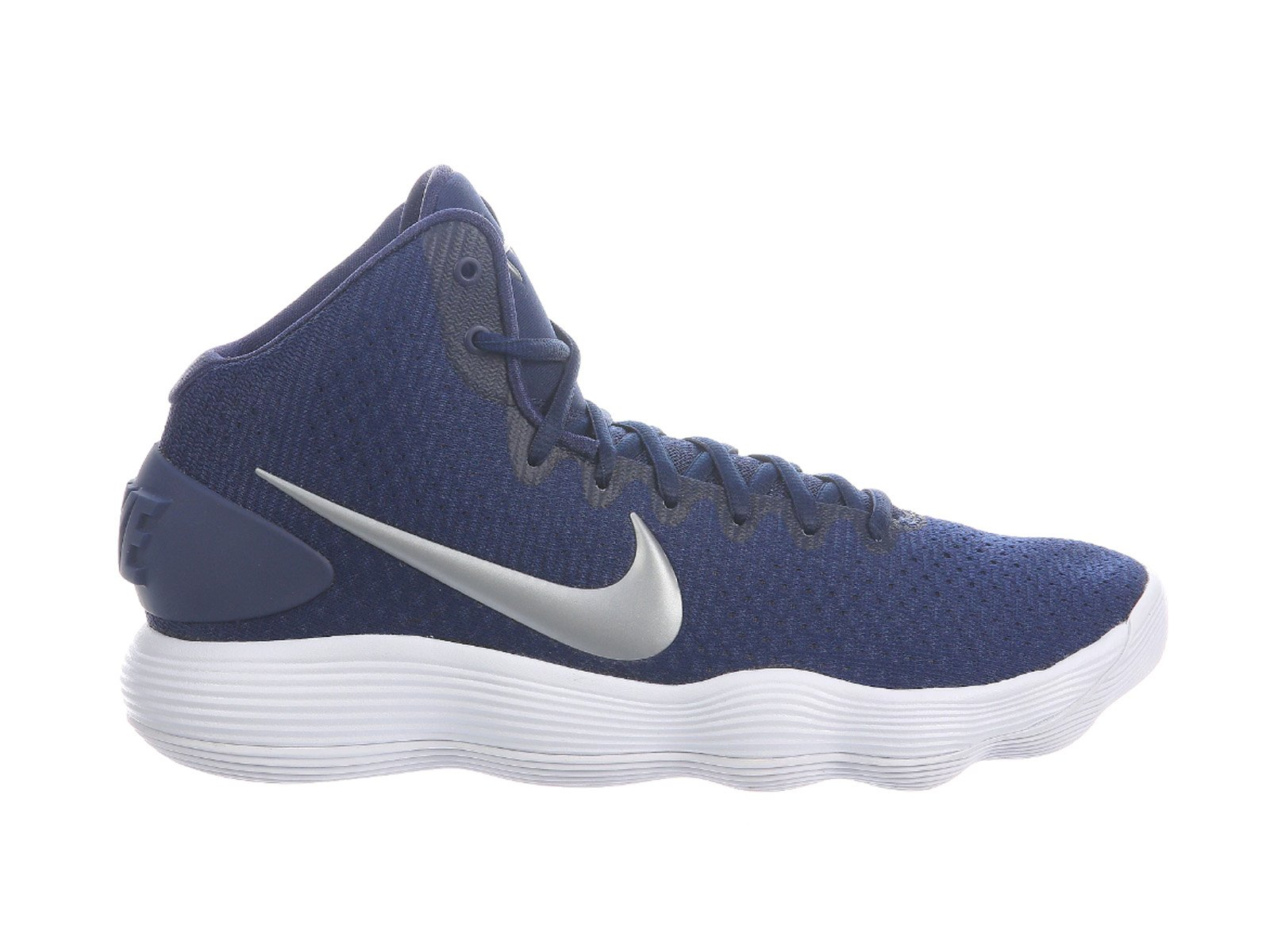 29214f8aa933a1 Galleon - NIKE Men s React Hyperdunk 2017 Midnight Navy Metallic Silver  White Nylon Running Shoes 8 D(M) US