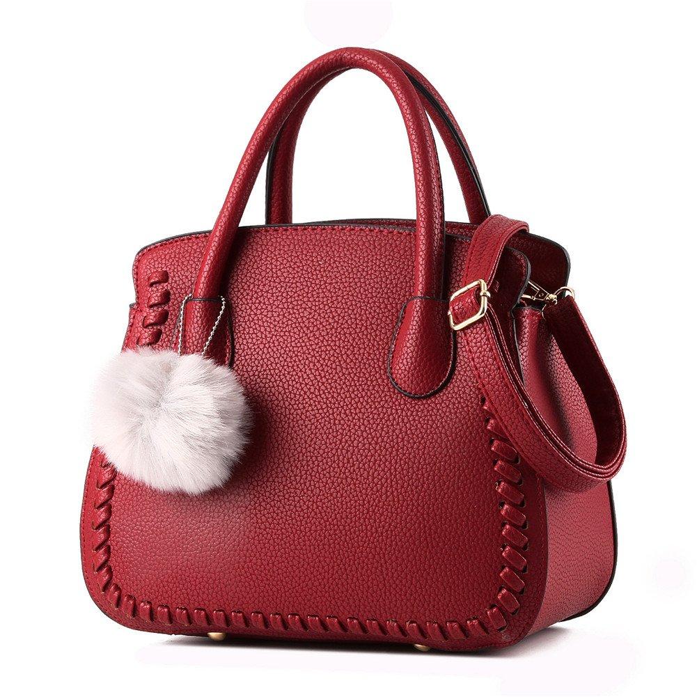FTSUCQ Womens Shell Style Handle Tote Handbag Shoulder Bags Satchels,Winered by TOP SHOP BAG