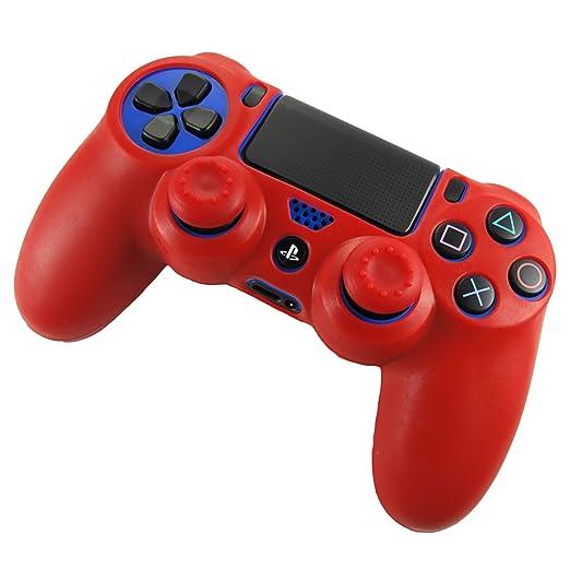 308 opinioni per Pandaren® Pelle cover skin per il PS4 controller(rosso) x 1 + pollice presa x 2