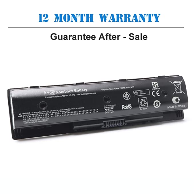 Amazon com: P106 710417-001 Battery for HP Envy Touchsmart