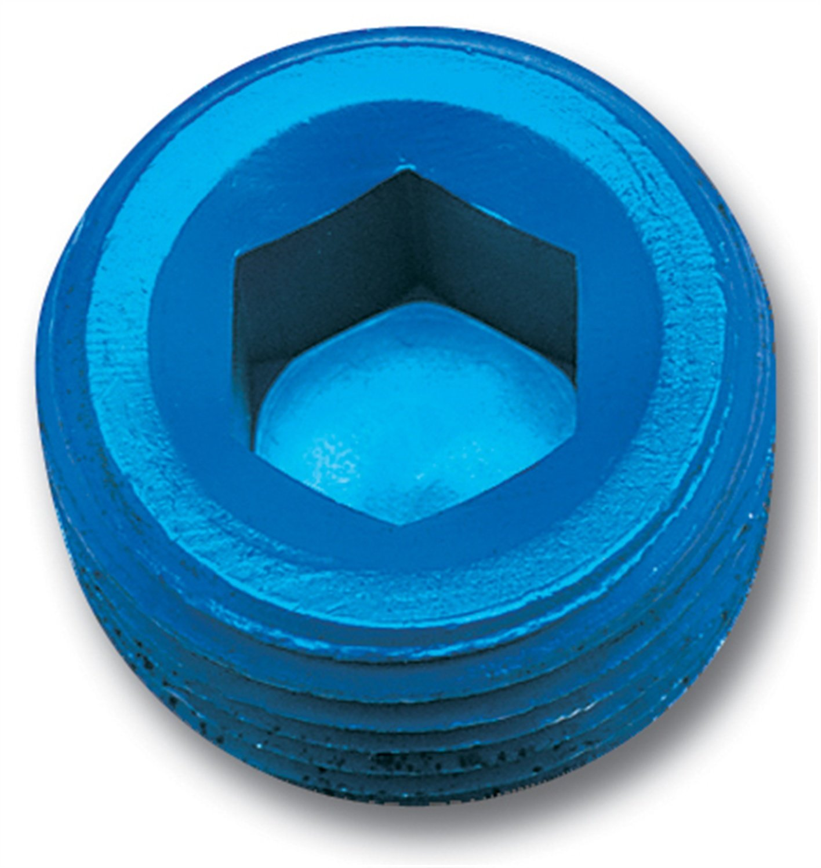 Edelbrock/Russell 662030 Blue Anodized Aluminum 1/8' Allen Socket Pipe Plug RUS-662030
