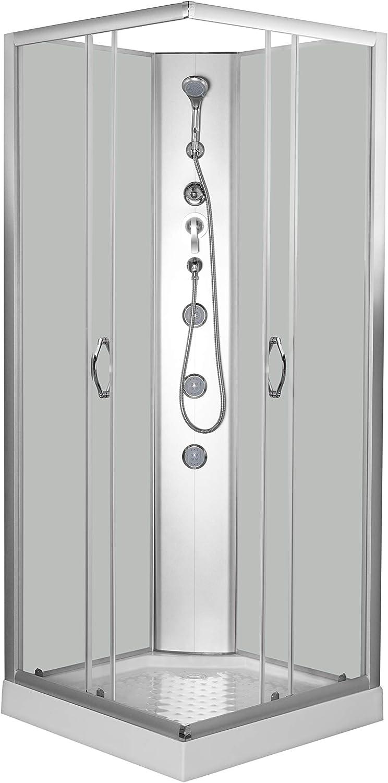 PROCOTA 29, S.L. Cabina de Ducha Rectangular en Color Blanco de 80 x 80 x 197 cm DP-1901: Amazon.es: Hogar