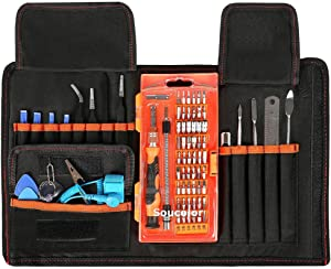 Computer Cellphone Repair Tools Kits,PC Precision Screwdriver Set,SOUCOLOR 78 in 1 Magnetic Driver Kit with Portable Case for iPad, iPhone 8/8 Plus, Tablets, Laptops, PC, Smartphones, Watches