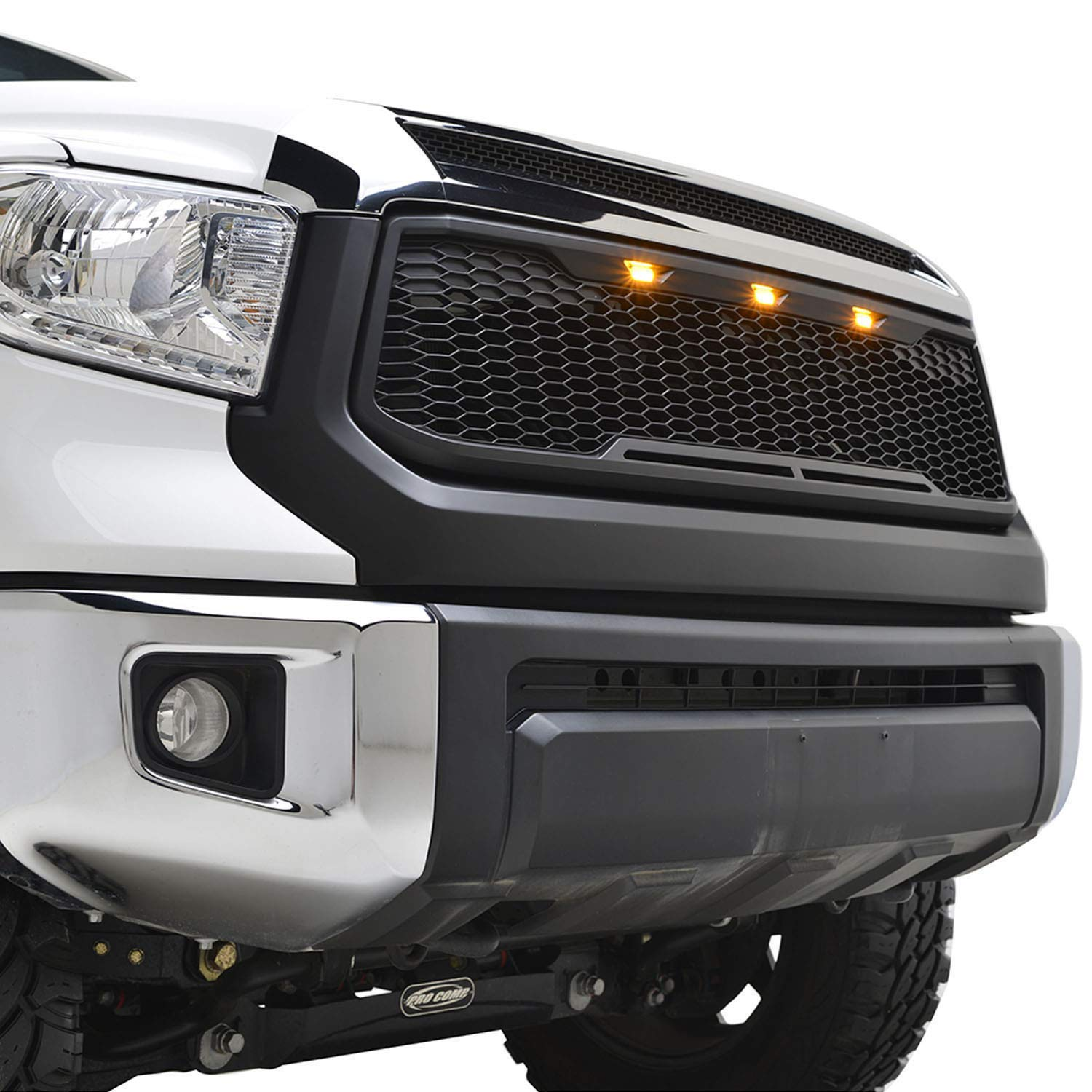 Tidal Raptor Style Upper Replacement Grille w/LED Amber Lighting for 14-17 Toyota Tundra - Matte Blcak Tidal Automotive
