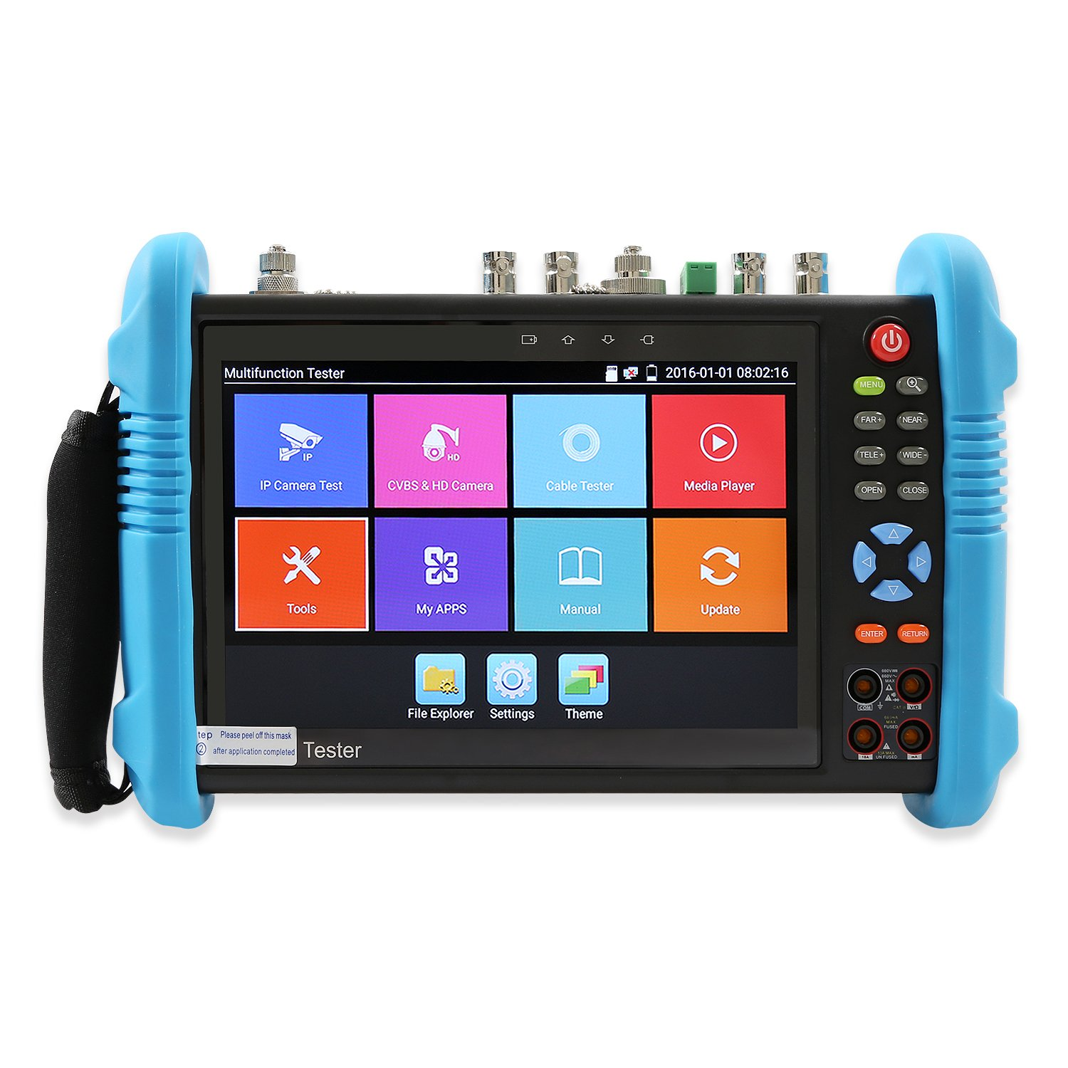 Wsdcam 7 Inch All in One IPS Touch Screen IP Camera Tester Security CCTV Tester Monitor with SDI/TVI/AHD/CVI/TDR/OPM/VFL/POE/WIFI/4K H.265/1080p HDMI in&Out/Firmware Upgraded 9800MOVTSADH-Plus by wsdcam