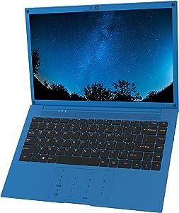 VUCATIMES Laptop Computer 14-inch Windows-10 - IPS Full HD Display Intel Dual-Core 6GB RAM 128GB SSD AC WiFi Numeric Keypad Mini HDMI Cobalt Blue (2 Core)
