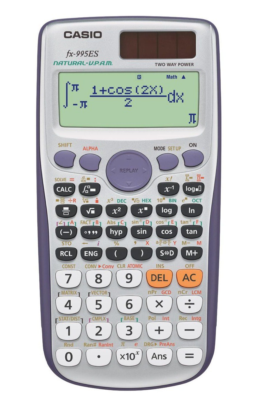 Casio scientific calculator math natural display 572 function 10-digit fx-995ES-N Silver