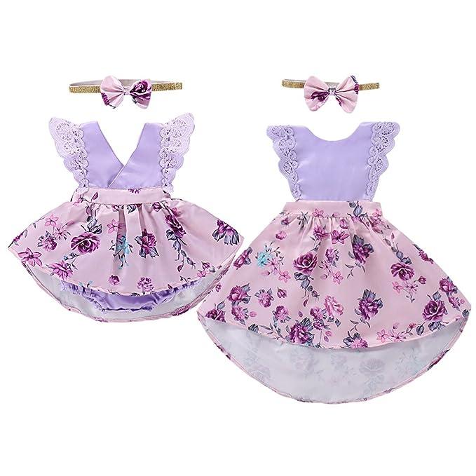 Amazon.com: Vestido a juego con diadema para bebés y niños ...