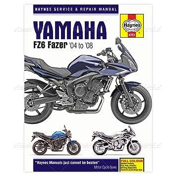 yamaha fz6 fazer haynes manual 2004 2008 amazon co uk car motorbike rh amazon co uk 2009 Yamaha FZ6 2005 Yamaha FZ6