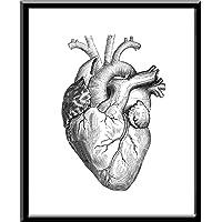 Corazon Real Heart Amor Heart Impresion, Cuadro decorativo Print Love Te Amo Regalo Arte Poster Cuadro Decorativo Art Wall Art Vintage Decor Home Decor Decoración Retro Hipster Cool