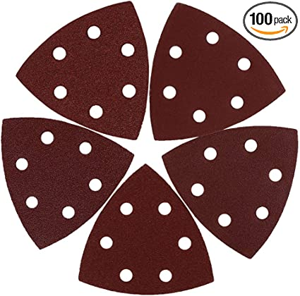 uxcell 50 Pcs 5 Inch 8 Hole Hook and Loop Sanding Discs 60 80 100 120 240 Assorted Grits Sandpaper
