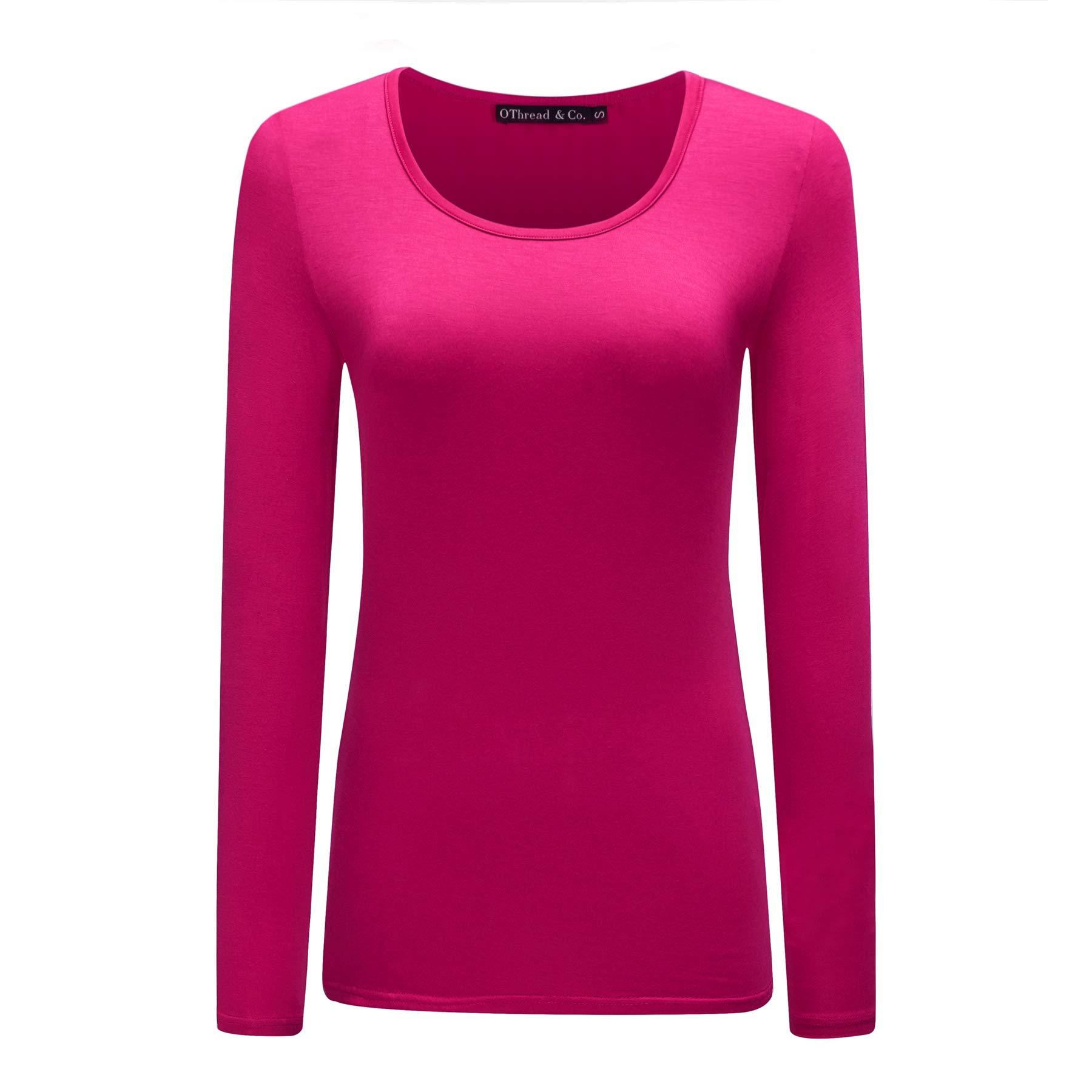 OThread & Co. Women's Long Sleeves T-Shirt Scoop