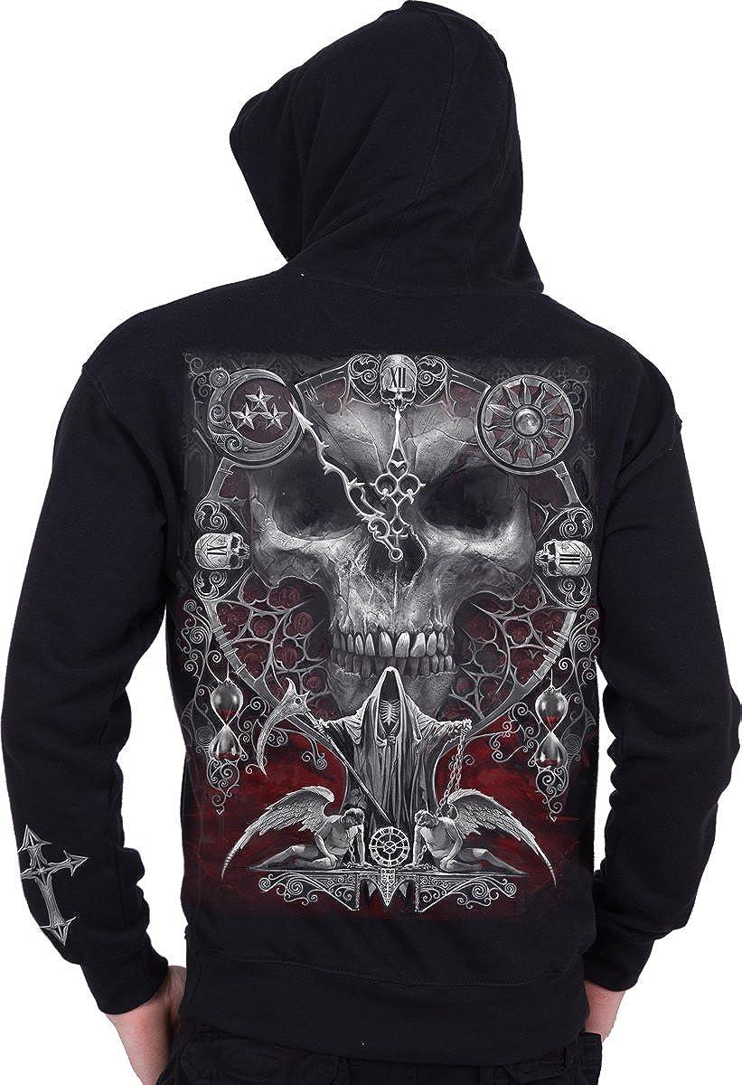 Full Zip Hoody Black Spiral Mens Sands of Death