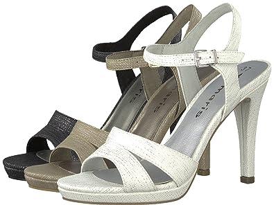 f8ccca005e19 Tamaris Sandaletten 1-28007-20 Damen Plateau Riemchen High Heels,  Schuhgröße 36