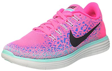 Nike Womens Free Rn Distance Hyper Pink/Black-Blue Glow-Hyper Turquoise  Ankle