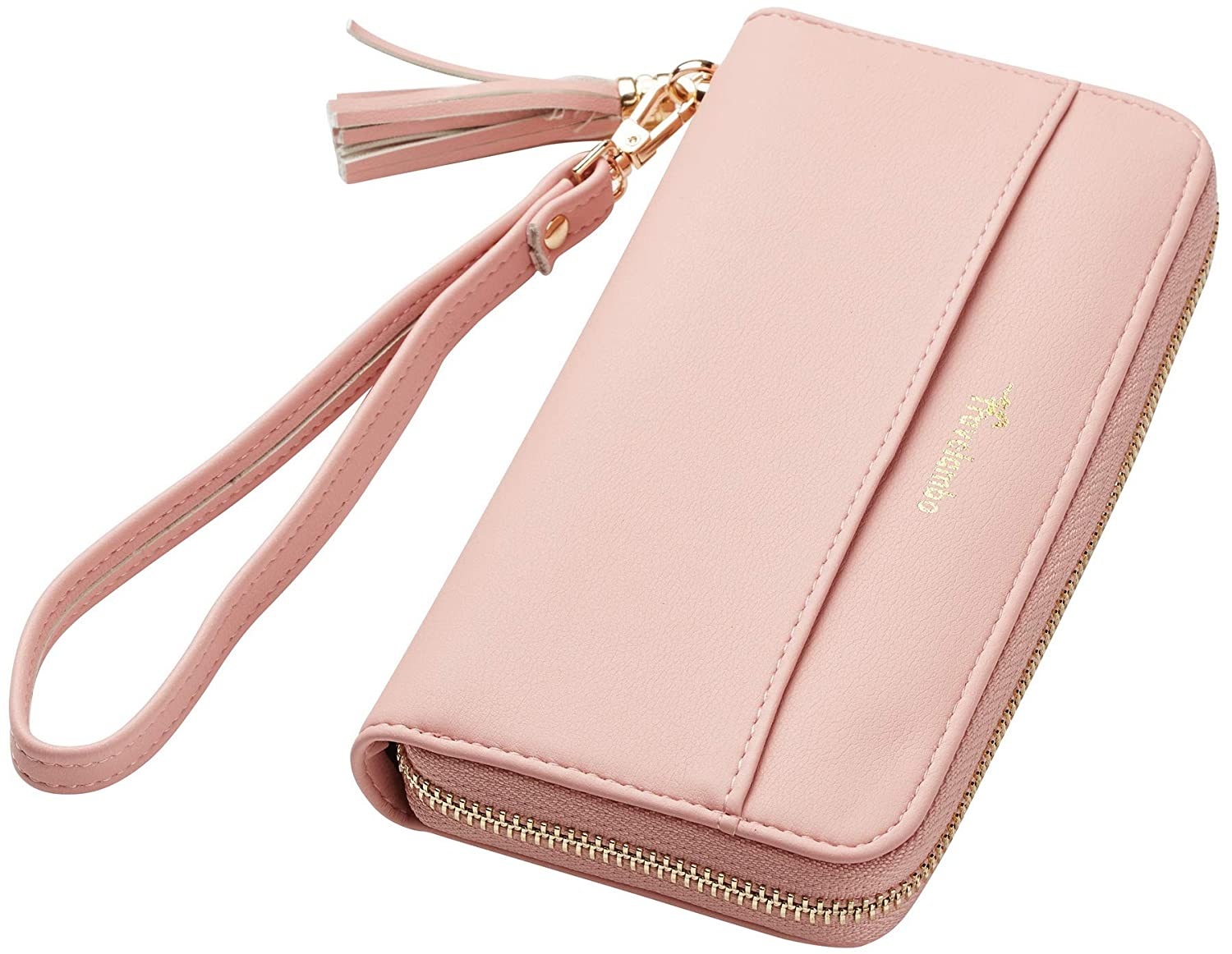 Travelambo Womens Wallet Tassel Bifold Ladies Cluth Wristlet Wrist strap Long Purse tra2018110902015