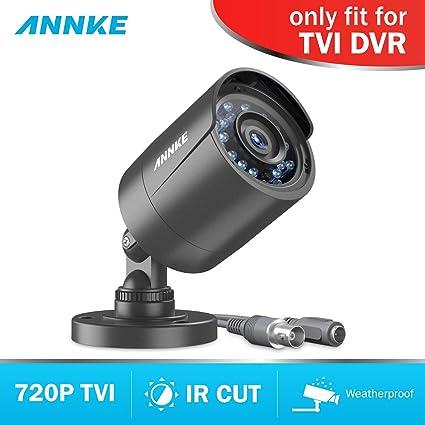 ANNKE Cámara de vigilancia 720P Bala Negro CCTV Visión Nocturna IP66 Interior/Exterior