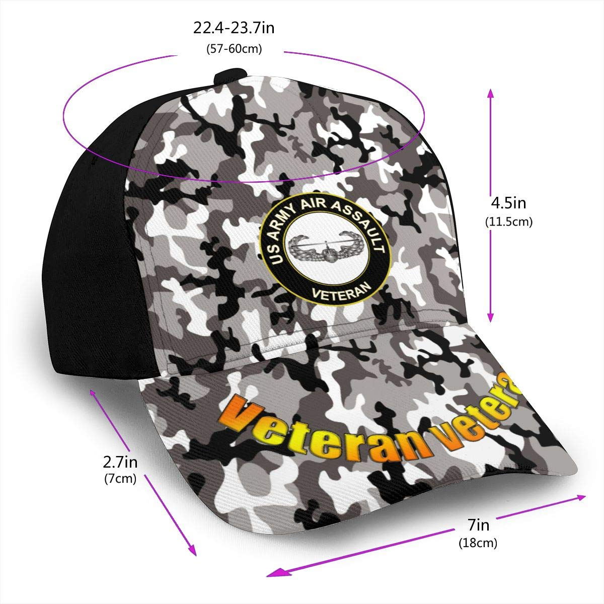 Us Army Air Assault Veteran Classic Adult Cap Printing Bend Along Baseball Hat Snapback Men Women Cap Adjustable