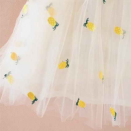 LianMengMVP Robe Plage Boheme B/éb/é Petite Fille sans Manches /Ét/é Style de Vacances Imprim/é Ananas Robe de Princesse