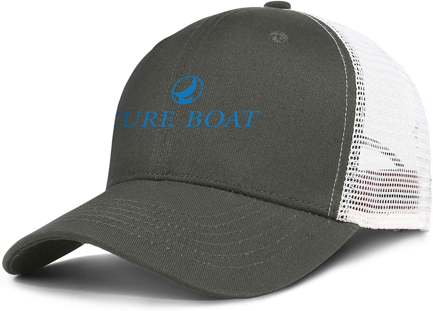 Baseball Caps for Women Cool Cotton Adjustable Unisex Mesh Snapback Cap NINETYRW Cute Mens Trucker Hat Azuree-Boats-Logo