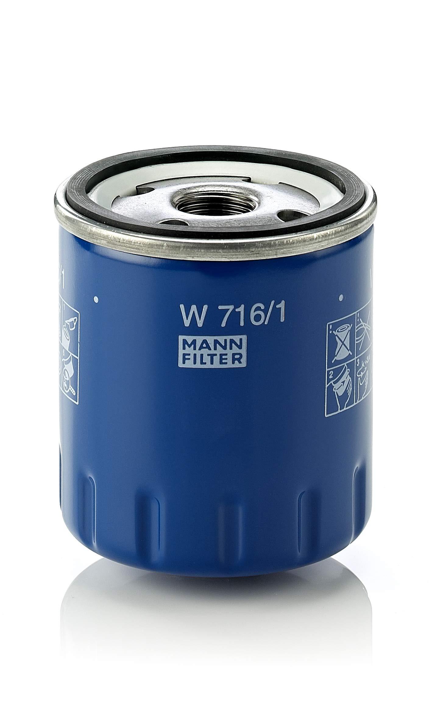 MANN-FILTER Original Filtro de Aceite W 716/1 – Para automóviles product image