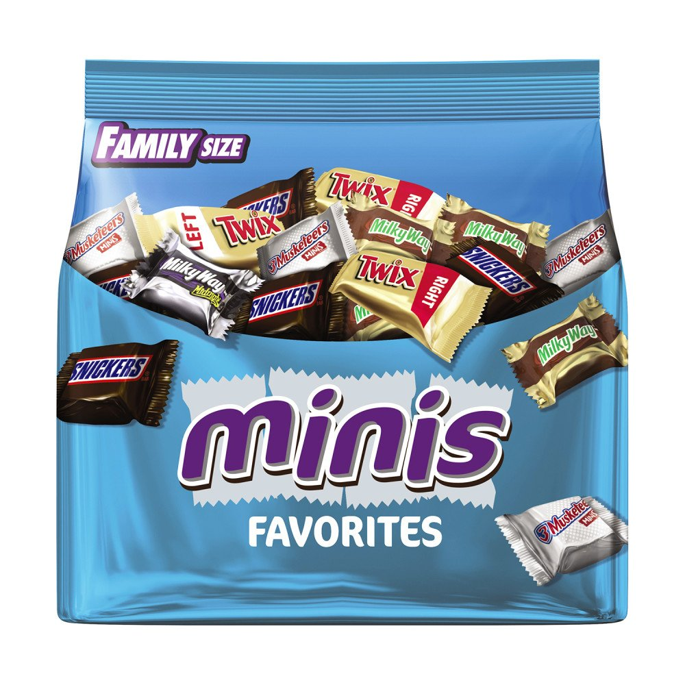MARS Chocolate Favorites Minis Size Candy Bars Variety Mix 16.0-Ounce Family Size Bag (Pack of 8)