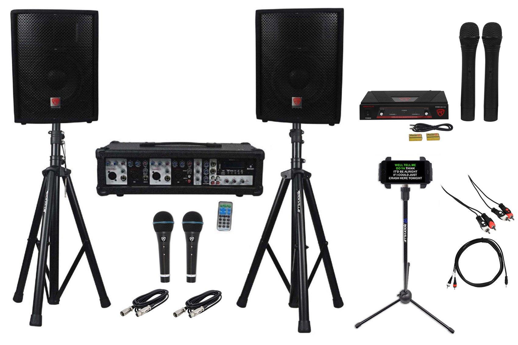 Rockville Dual 10'' Android/iphone/ipad/Laptop/TV Youtube Karaoke Machine/System
