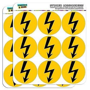 Grafik und mehr 5 cm Sticker Symbol schwarz auf gelb hohe Spannung ...