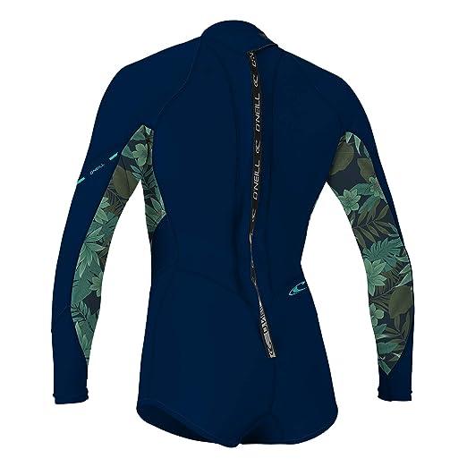08f1d9f89e Amazon.com   O Neill Women s Bahia 2 1mm Back Zip Long Sleeve Short Spring  Wetsuit   Sports   Outdoors
