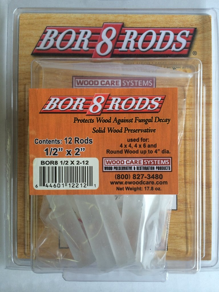 Bor8rod 1/2''X2''-Solid Wood Preservative by Wood Care Systems (Image #1)