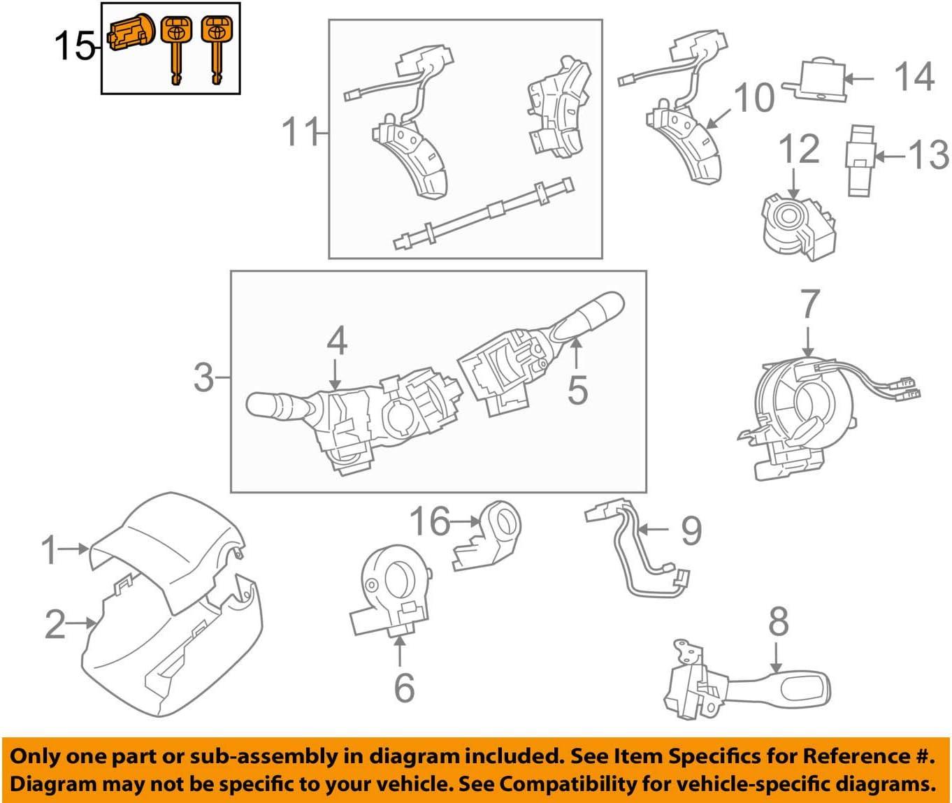 amazon.com: toyota 69057-08010 ignition lock cylinder: automotive  amazon.com