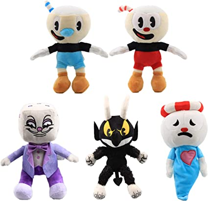 Cuphead Game Plush Toy Cuphead /& Mugman The Devil Boss 11/'/' Figure Doll