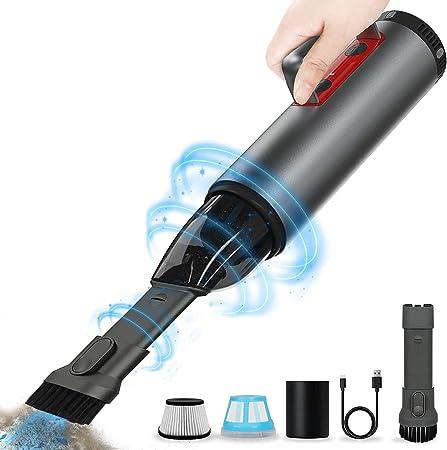 REEXBON Aspiradora Coche Potente Sin Cable 6000 PA, Aspirador Mano Sin Cable Potente, Carga rápida USB, con Filtro Lavable, para Oficina Hogar y Coche: Amazon.es: Hogar