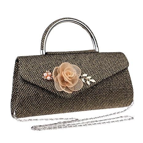 Bolso Elegante del teléfono del Embrague del teléfono de Las Flores de la Cartera del Embrague