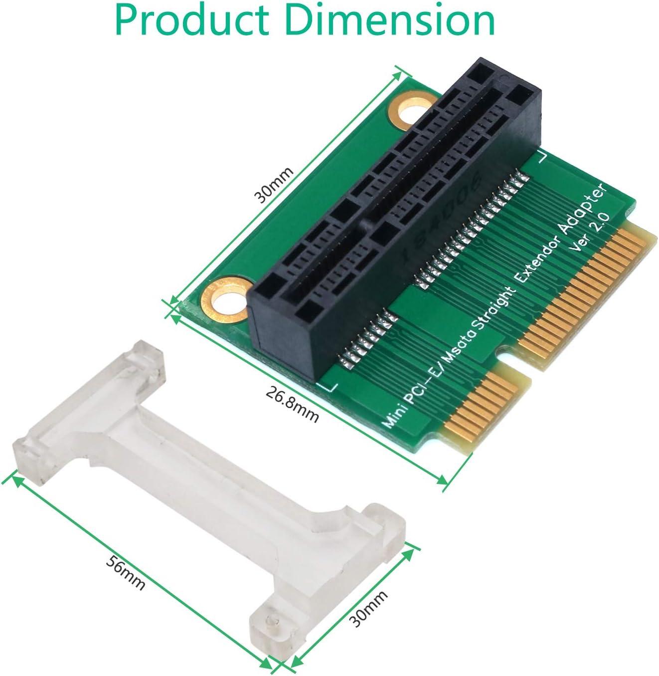 for 3G//4G Vertical Installation WWAN LTE,GPS and MSATA Card BQZYX+ Mini PCI-E//mSATA Adapter