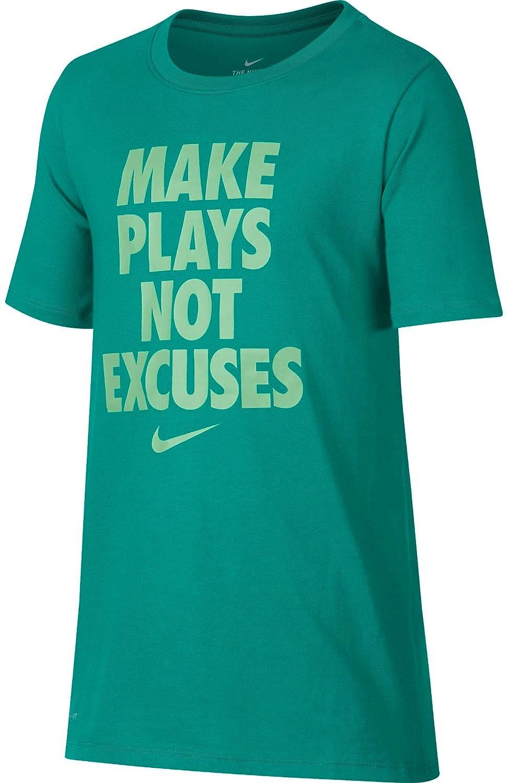 241f146b4037 Top4  Nike Boy s Dry Make Plays Graphic T-Shirt (Neptune Green