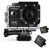FREDI Action Camera 4K WIFI Sports Action Camera Ultra HD Waterproof DV Camcorder 16MP 170 Degree