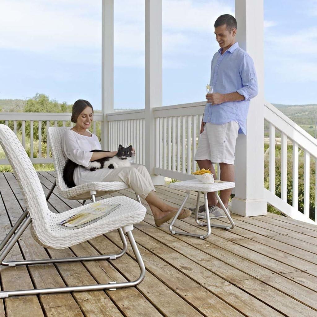 Conjunto de terraza o balcón Río, Color blanco
