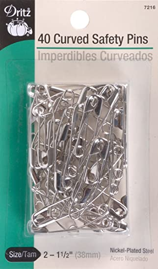 Amazon.com: Dritz size 2 Curved Safety Pins are just the right ... : safety pins for quilting - Adamdwight.com