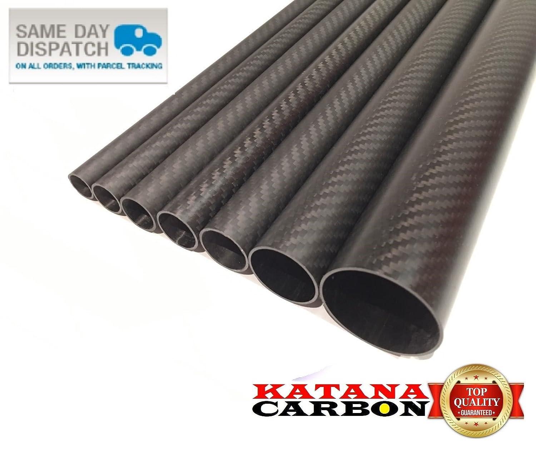 Roll Wrapped 1 x 3k Carbon Fiber Tube OD 25mm x ID 23mm x 1000mm 1 m Fibre
