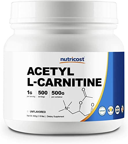 Nutricost Acetyl L-Carnitine ALCAR 500 Grams – 1000mg Per Serving – High Quality Pure Acetyl L-Carnitine Powder